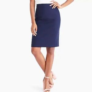 J Crew Pencil Skirt Navy Blue size 8